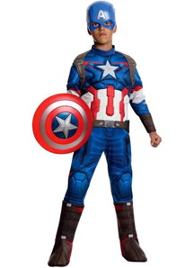 Captain America Deluxe Costume For Children