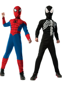 Deluxe Reversible Spiderman Child Costume