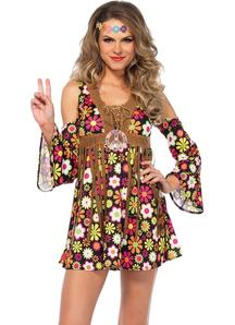 Flower Hippie Adult Costume