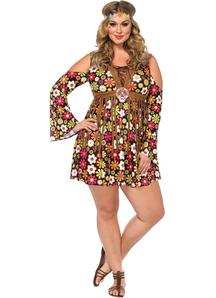 Flower Hippie Adult Plus Costume