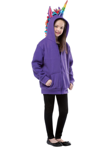 Hoodie Unicorn Purple Child