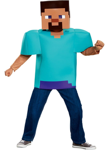 Minecraft Steve Costume Child