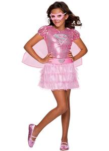 Pink Supergirl Costume For Children