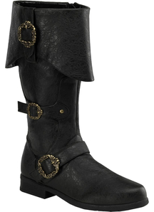 Pirates of The Caribbean Boots Black