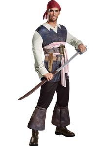 Pirates of The Caribbean Captain Jack Adult Costume