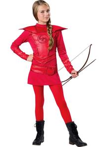 Red Warrior Huntress Teen Costume