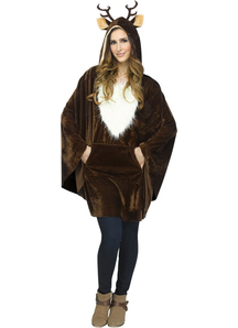 Reindeer Poncho Adult
