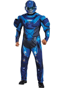 Spartan Halo Costume Blue For Adults