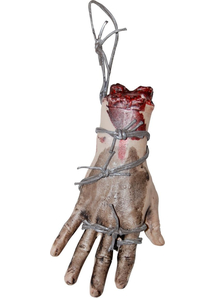 Bloody Hand With Wire Prop