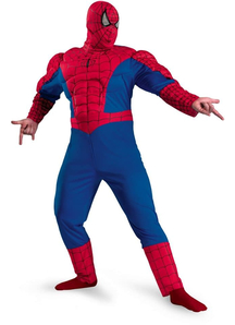 Classic Spiderman Muscle Adult Plus Size Costume