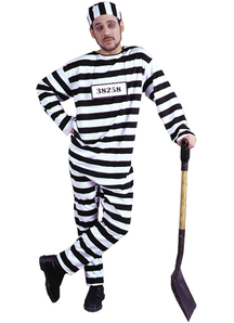 Convict Adult Plus Size Costume