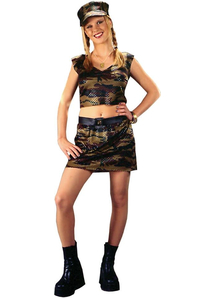 Cute Soldier Teen Costume