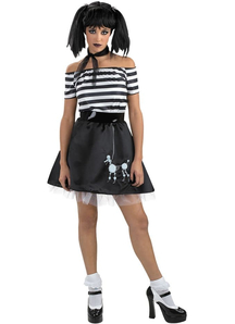 Dark Poodle Teen Costume