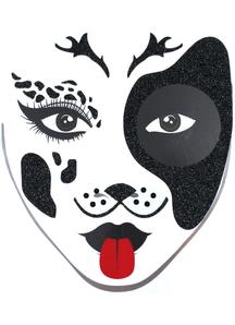 Face Decal Dalmatian