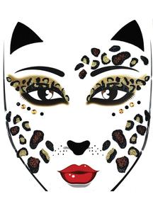 Face Decal Leopard