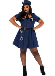 Flirty Cop Plus Costume