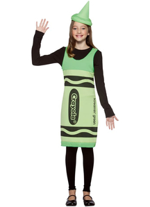 Green Crayola Pencil Teens Costume