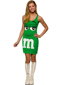 Green Dress M&M'S Teen Costume