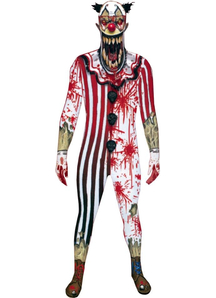 Morphsuit Jaw Dropper Clown Adult Costume