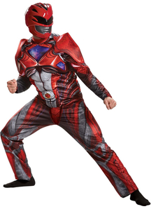 New Red Ranger Teen Muscle Costume