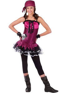 Pink Skull Pirate Teen Costume