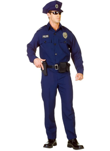Police Officer Adult Plus Size Costume