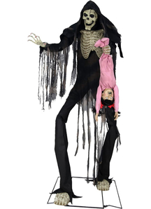 Skeleton with Kid Prop