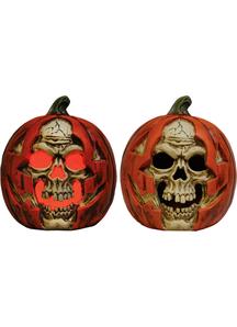 Skull in Pumpkin Prop