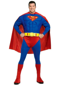 Superman Muscle Adult Plus Costume