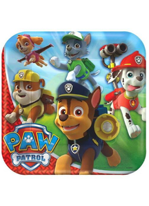 Paw Patrol Square Plate 9 Inch
