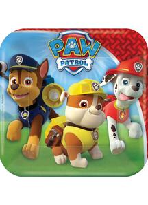 Paw Patrol Square Plates 7 Inch