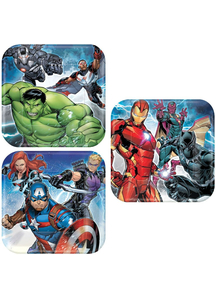 Avengers 7In Plates 8 Pack