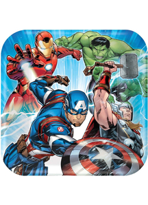 Avengers 9In Plates 8 Pack