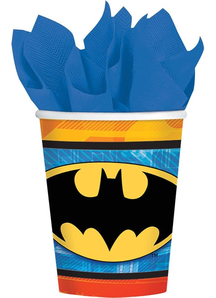 Batman Cups 9 Oz 8 Pk