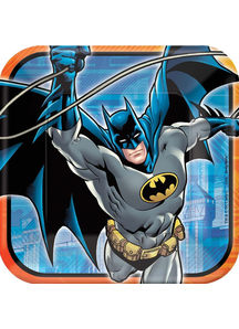 Batman Square Plate 9In