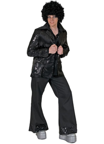 Black Disco Jacket Adult Costume