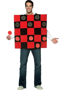 Checkers Adult Costume