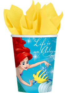 Disney Ariel Cups 9Oz 8 Pack