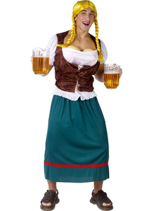 Funny Beer Waitress Male Costume