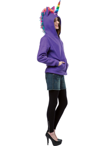 Hoodie Unicorn Purple Adult
