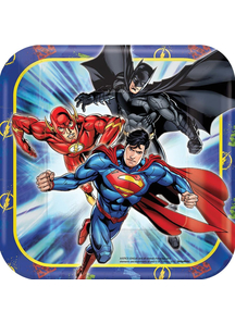 Justice League 7In Sq Plates