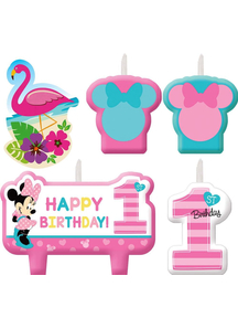 Minnie 1St Bday Candle Set 4Pk