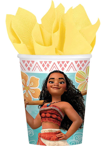 Moana Cups 9Oz 8 Pack