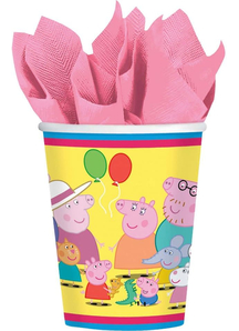 Peppa Pig Cups 9Oz 8 Pack