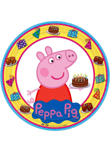 Peppa Pig Square Plate 9In
