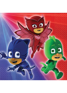 Pj Masks Bev Napkins 16 Pack