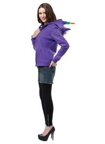 Hoodie Unicorn Purple Adult -2