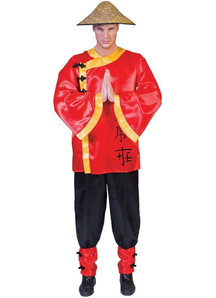 Asian Man Adult Costume
