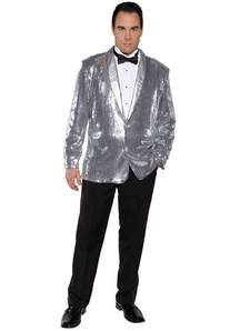 Disco Jacket Silver Adult