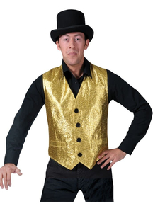 Disco Vest Gold Adult